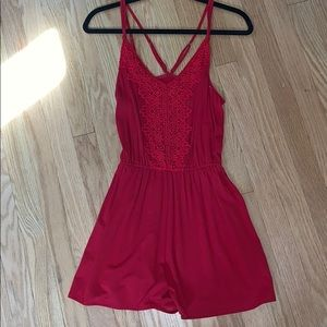 Red romper from Hollister